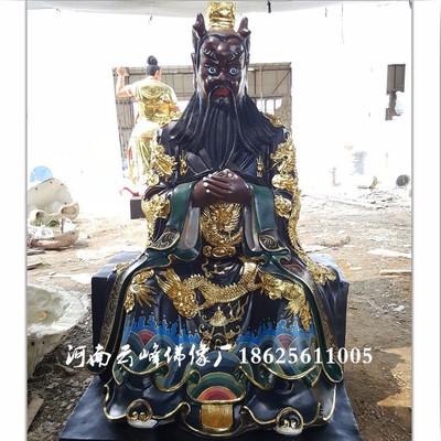 河南云峰佛像厂定做玻璃钢彩绘神像 四海龙王报价 龙王龙母佛像