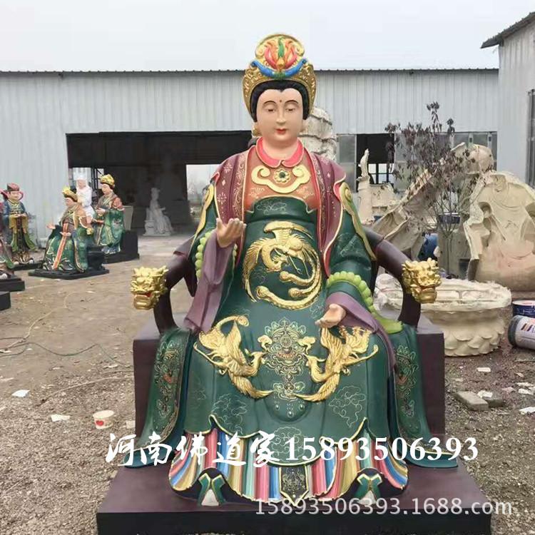 河南佛像供应九天玄女  玄女  九天娘娘神像2.2米 寺庙神像订制示例图2