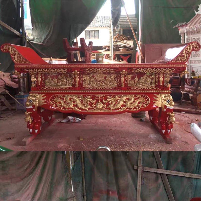 寺院佛桌 精雕供桌造型定制 佛堂红木元宝桌
