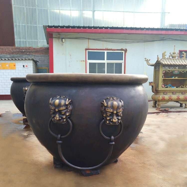 河北纯铜大缸铸造厂 大型纯铜大缸 圣喜玛