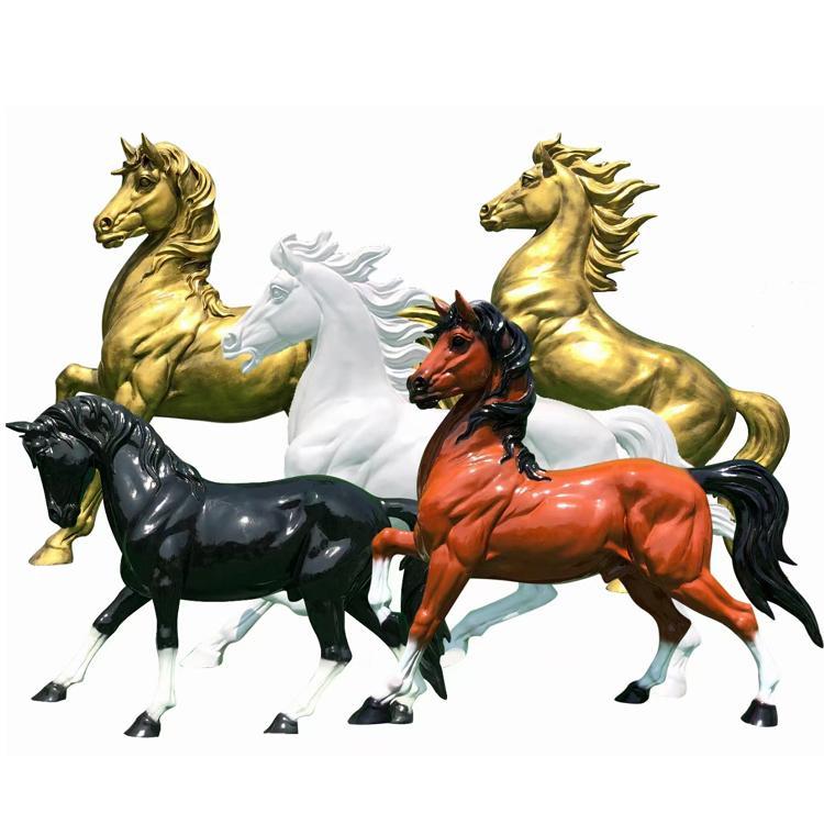 铜马雕塑 铜雕动物雕塑厂家定做 纯铜马雕塑 圣喜玛