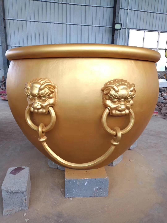 铜大缸雕塑 铜大缸定做 圣喜玛