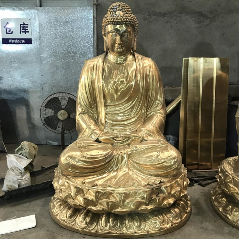 裟婆三圣佛像 铜铸大型裟婆三圣佛像定做