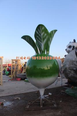 红心萝卜雕塑玻璃钢广场景观雕塑