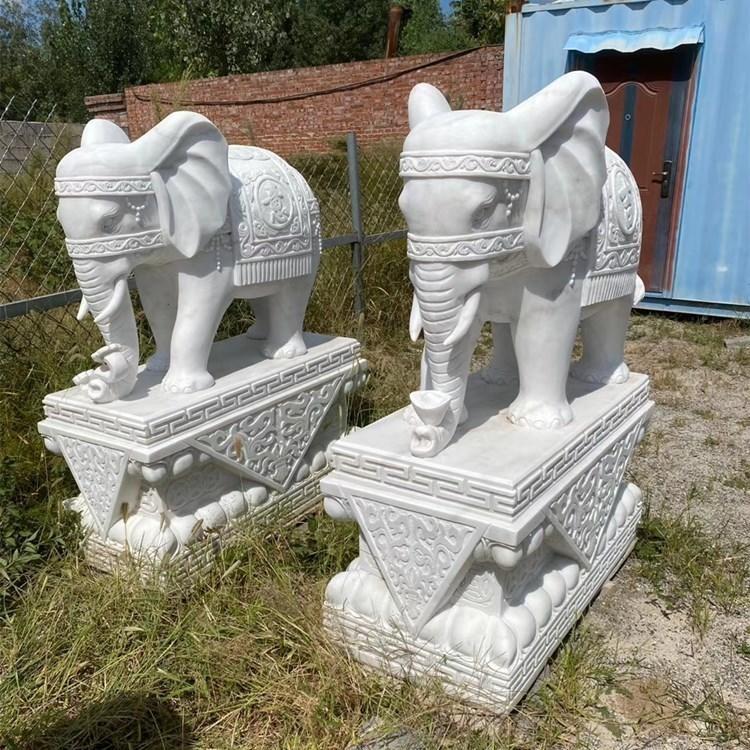 石雕大象厂家 吉祥如意石雕 石象雕刻 花岗岩大象 大象风水摆件