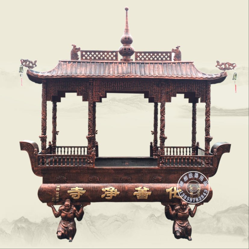 专业设计寺院罗汉脚香炉 长方形香炉