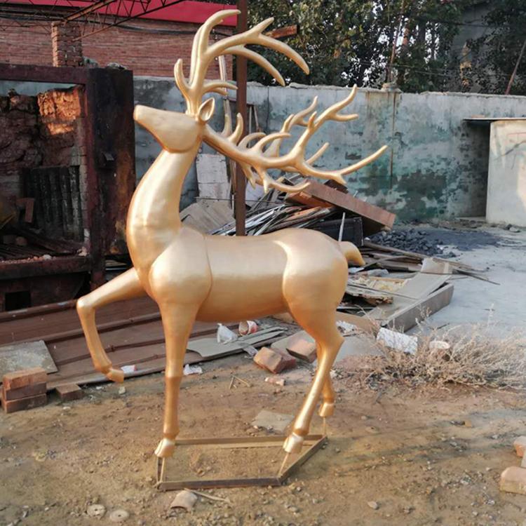 不锈钢雕塑鹿  河北不锈钢雕塑生产厂家 圣喜玛