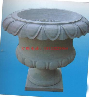 大理石花盆,公园景观雕塑 石雕花盆