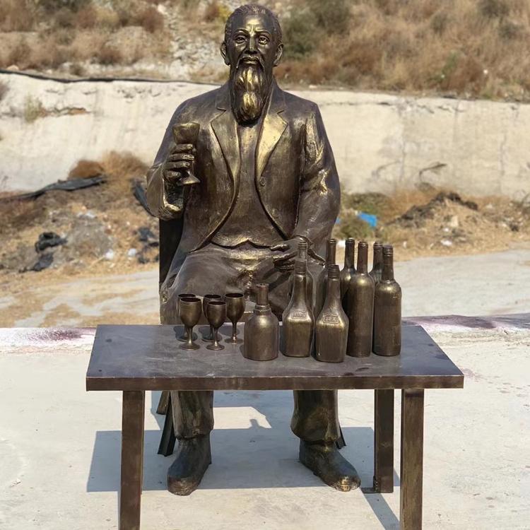 人物铜雕供应商 广场仿古人物铜雕铸造厂 圣喜玛