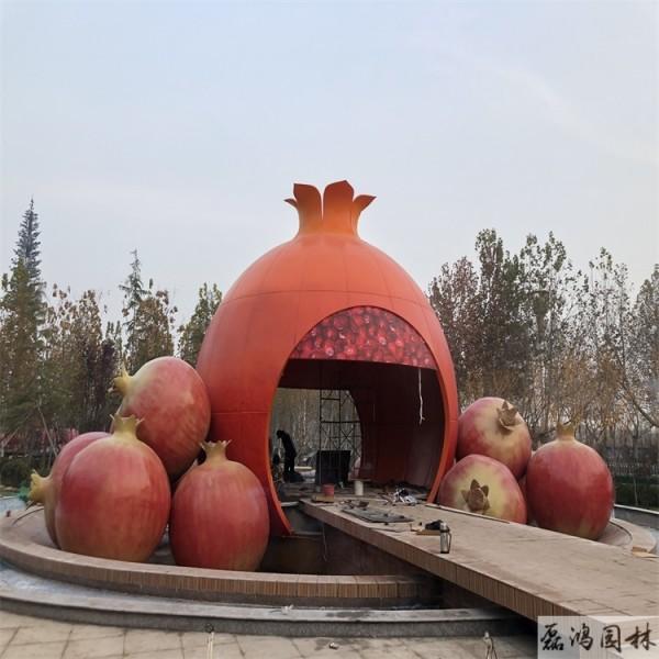 衢州磊鸿园林玻璃钢雕塑价格 磊鸿园林玻璃钢雕塑定制 城市园林蔬菜瓜果雕塑工艺品摆件