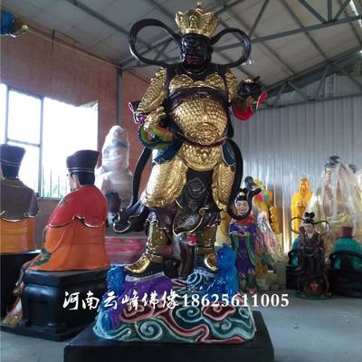 河南订做玻璃钢佛像 2.5米四大天王佛像厂家批发 四大金刚护法神像订做