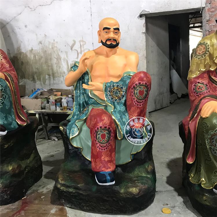 山西寺庙佛像雕塑 铸铜十八罗汉金身佛像