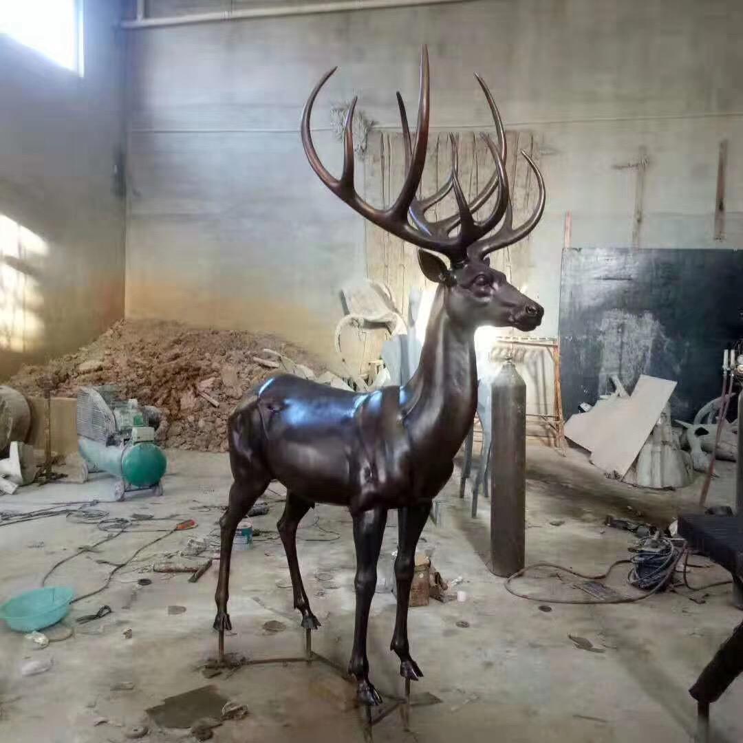 铸铜鹿 公园广场鹿 铸铜鹿工艺品摆件 圣喜玛
