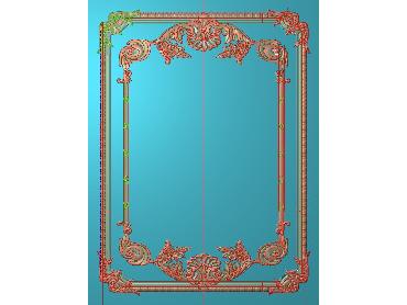 OUHQ002-JDP格式欧式护墙板精雕图欧式洋花浮雕电脑精雕图洋花护墙板雕刻图(含灰度图)