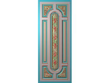 OUHQ003-JDP格式欧式护墙板精雕图欧式洋花浮雕电脑精雕图洋花护墙板雕刻图(含灰度图)