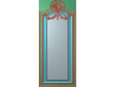 OUHQ004-JDP格式欧式护墙板精雕图欧式洋花浮雕电脑精雕图洋花护墙板雕刻图(含灰度图)