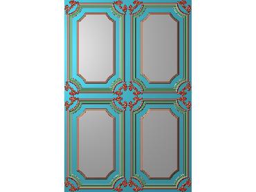 OUHQ012-JDP格式欧式护墙板精雕图欧式洋花浮雕电脑精雕图洋花护墙板雕刻图(含灰度图)
