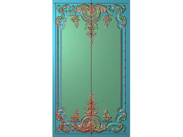 OUHQ021-JDP格式欧式护墙板精雕图欧式洋花浮雕电脑精雕图洋花护墙板雕刻图(含灰度图)