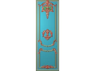OUHQ027-JDP格式欧式护墙板精雕图欧式洋花浮雕电脑精雕图洋花护墙板雕刻图(含灰度图)