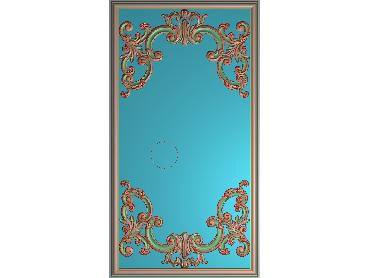 OUHQ031-JDP格式欧式护墙板精雕图欧式洋花浮雕电脑精雕图洋花护墙板雕刻图(含灰度图)