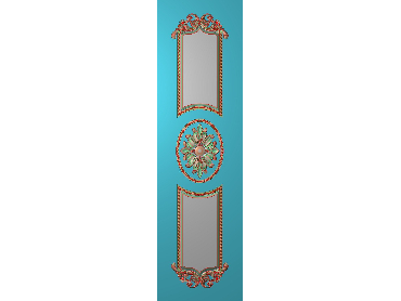OUHQ033-JDP格式欧式护墙板精雕图欧式洋花浮雕电脑精雕图洋花护墙板雕刻图(含灰度图)