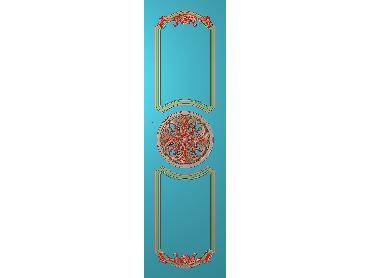 OUHQ034-JDP格式欧式护墙板精雕图欧式洋花浮雕电脑精雕图洋花护墙板雕刻图(含灰度图)