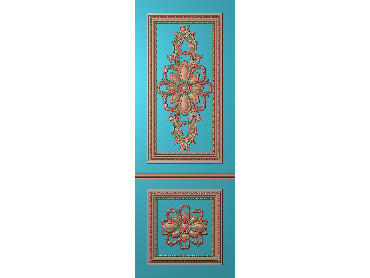 OUHQ038-JDP格式欧式护墙板精雕图欧式洋花浮雕电脑精雕图洋花护墙板雕刻图(含灰度图)