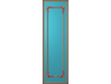 OUHQ039-JDP格式欧式护墙板精雕图欧式洋花浮雕电脑精雕图洋花护墙板雕刻图(含灰度图)