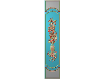 OUHQ042-JDP格式欧式护墙板精雕图欧式洋花浮雕电脑精雕图洋花护墙板雕刻图(含灰度图)