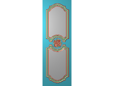OUHQ043-JDP格式欧式护墙板精雕图欧式洋花浮雕电脑精雕图