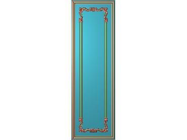 OUHQ048-JDP格式欧式护墙板精雕图欧式洋花浮雕电脑精雕图洋花护墙板雕刻图(含灰度图)