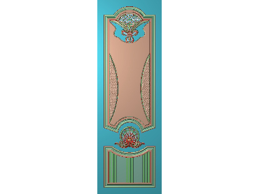OUHQ051-JDP格式欧式护墙板精雕图欧式洋花浮雕电脑精雕图洋花护墙板雕刻图(含灰度图)