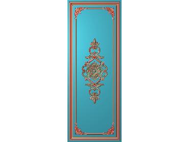 OUHQ052-JDP格式欧式护墙板精雕图欧式洋花浮雕电脑精雕图洋花护墙板雕刻图(含灰度图)