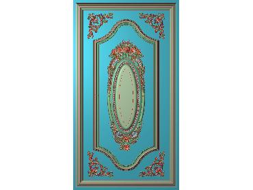 OUHQ056-JDP格式欧式护墙板精雕图欧式洋花浮雕电脑精雕图洋花护墙板雕刻图(含灰度图)