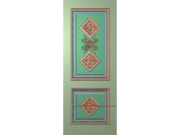 OUHQ060-JDP格式欧式护墙板精雕图欧式洋花浮雕电脑精雕图洋花护墙板雕刻图(含灰度图)