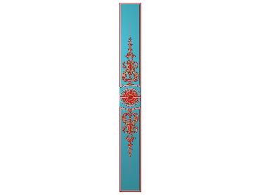 OUHQ061-JDP格式欧式护墙板精雕图欧式洋花浮雕电脑精雕图洋花护墙板雕刻图(含灰度图)