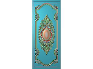 OUHQ063-JDP格式欧式护墙板精雕图欧式洋花浮雕电脑精雕图洋花护墙板雕刻图(含灰度图)