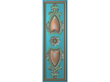 OUHQ064-JDP格式欧式护墙板精雕图欧式洋花浮雕电脑精雕图洋花护墙板雕刻图(含灰度图)