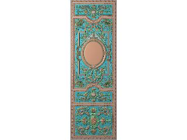 OUHQ065-JDP格式欧式护墙板精雕图欧式洋花浮雕电脑精雕图洋花护墙板雕刻图(含灰度图)