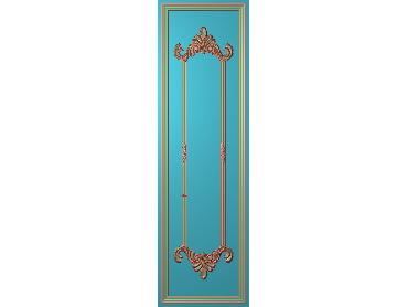 OUHQ067-JDP格式欧式护墙板精雕图欧式洋花浮雕电脑精雕图洋花护墙板雕刻图(含灰度图)