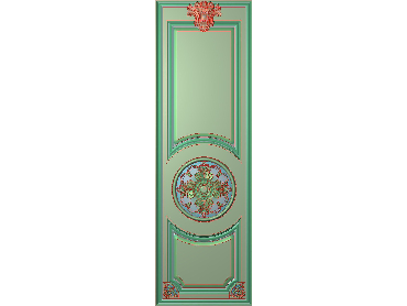 OUHQ074-JDP格式欧式护墙板精雕图欧式洋花浮雕电脑精雕图洋花护墙板雕刻图(含灰度图)