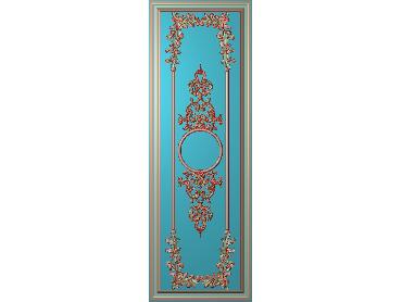 OUHQ077-JDP格式欧式护墙板精雕图欧式洋花浮雕电脑精雕图洋花护墙板雕刻图(含灰度图)