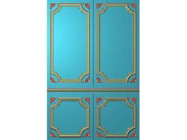 OUHQ080-JDP格式欧式护墙板精雕图欧式洋花浮雕电脑精雕图洋花护墙板雕刻图(含灰度图)