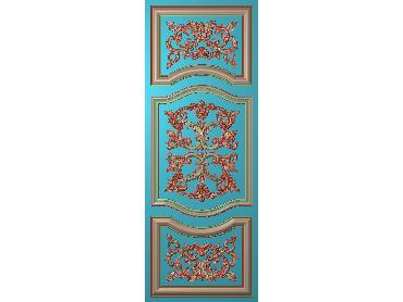 OUHQ083-JDP格式欧式护墙板精雕图欧式洋花浮雕电脑精雕图洋花护墙板雕刻图(含灰度图)