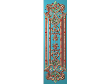 OUHQ088-JDP格式欧式护墙板精雕图欧式洋花浮雕电脑精雕图洋花护墙板雕刻图(含灰度图)