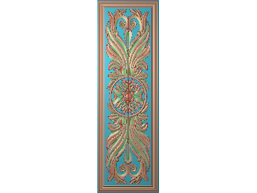 OUHQ089-JDP格式欧式护墙板精雕图欧式洋花浮雕电脑精雕图洋花护墙板雕刻图(含灰度图)