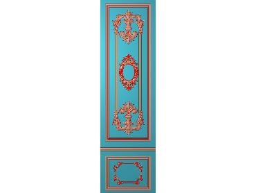 OUHQ091-JDP格式欧式护墙板精雕图欧式洋花浮雕电脑精雕图洋花护墙板雕刻图(含灰度图)