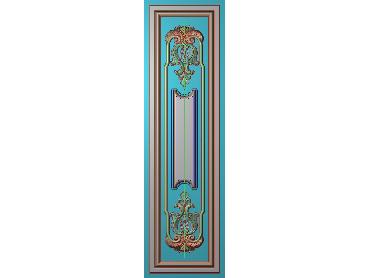 OUHQ093-JDP格式欧式护墙板精雕图欧式洋花浮雕电脑精雕图洋花护墙板雕刻图(含灰度图)