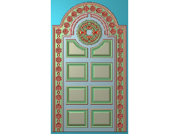 OUHQ094-JDP格式欧式护墙板精雕图欧式洋花浮雕电脑精雕图洋花护墙板雕刻图(含灰度图)