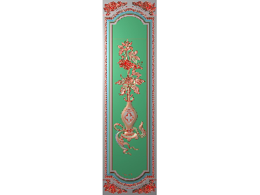 OUHQ099-JDP格式欧式护墙板精雕图欧式洋花浮雕电脑精雕图洋花护墙板雕刻图(含灰度图)